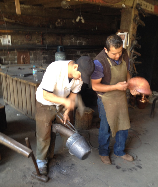 2 men working