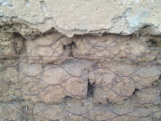 inside of wall