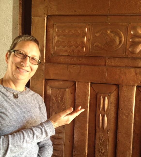 laura with door