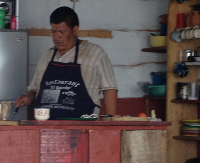 man cooking