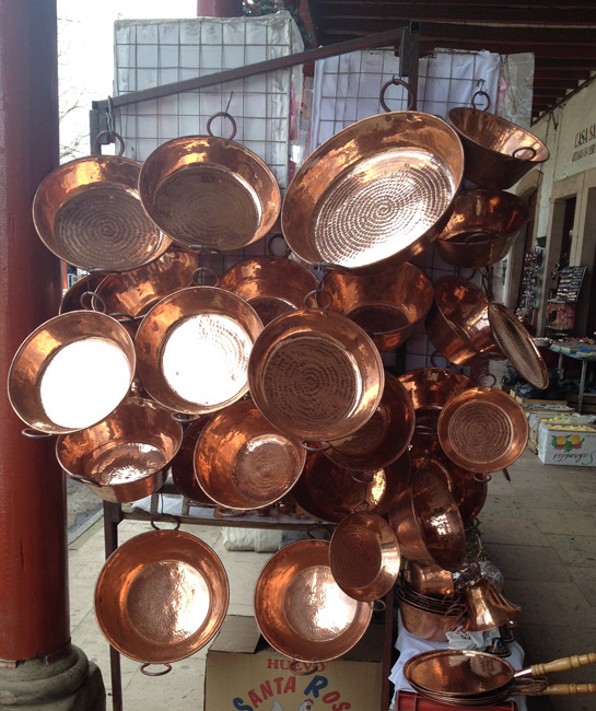 pots on rack
