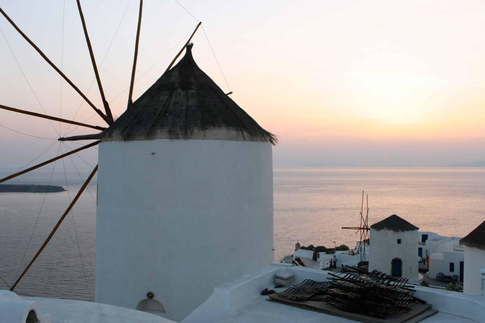 Santorini Windmill at Sunset. Photo courtesy of Steve Cronin.