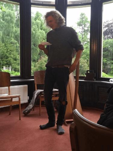 Ben, the gardener performed his poetry