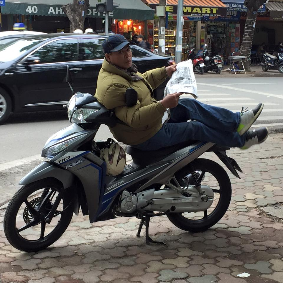 lounging-motorcyclist