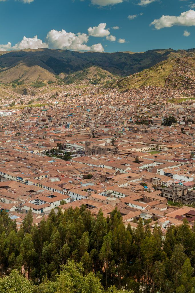 Aerial view of Cuzco, Peru