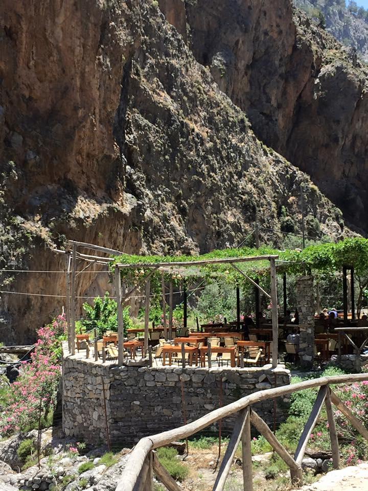 laura-davis-greece-samaria-gorge-lovely-cafe-end