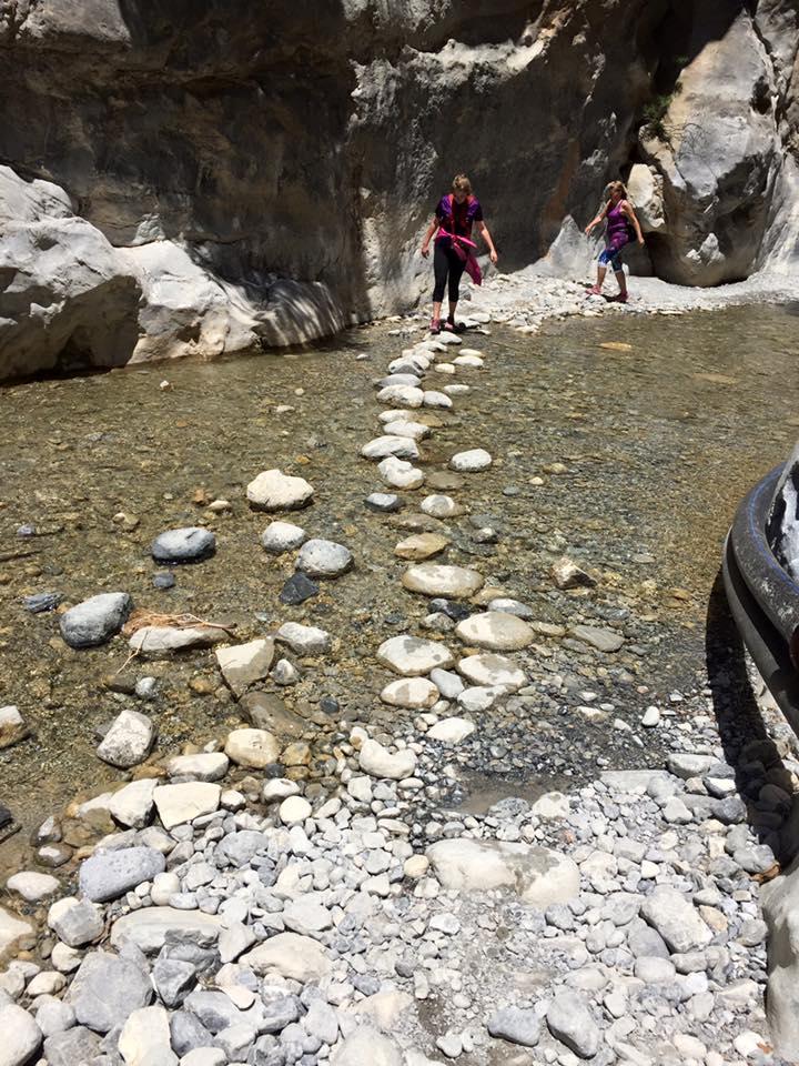 laura-davis-greece-samaria-gorge-stream-crossing